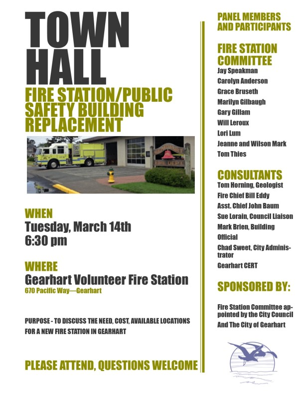 Fire Hall Flyer Town Hall 03142017
